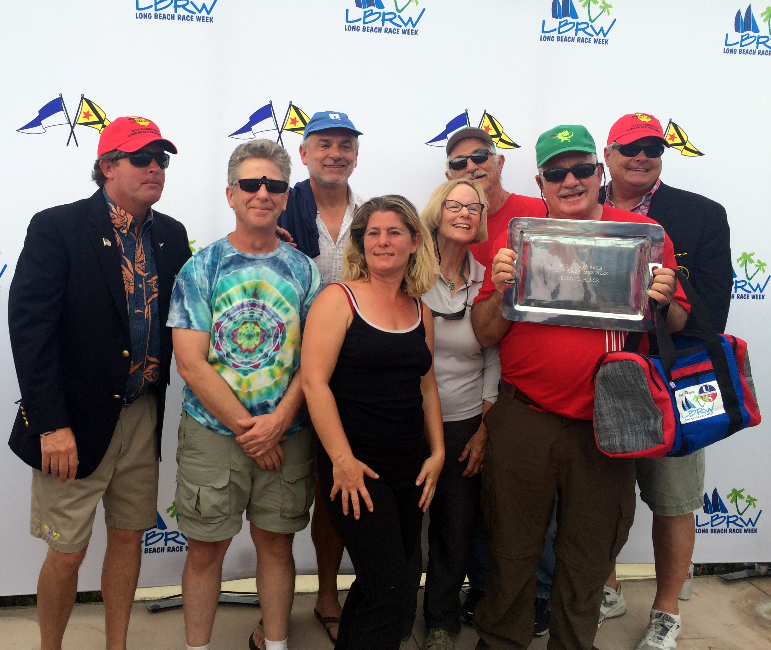 """Gary and Rosalie Green and crew aboard """"Green Dragon II"""" came in 2nd in the PHRF-RL-2 fleet."""